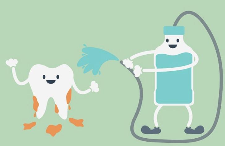 Chăm sóc răng bằng dung dịch
